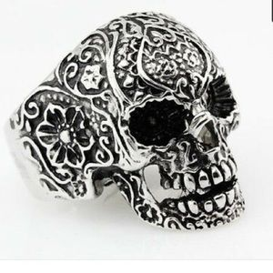 NEW!💀 STAINLESS STEEL SUGAR SKULL RING Size 10